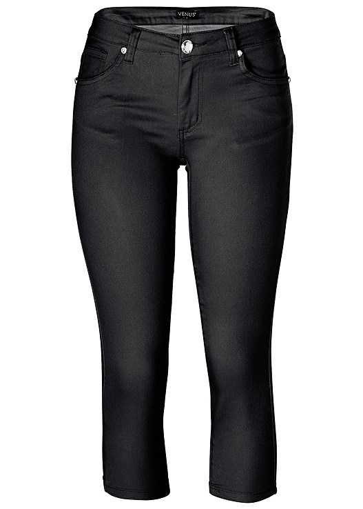 Color Capri Jeans in Black | VENUS