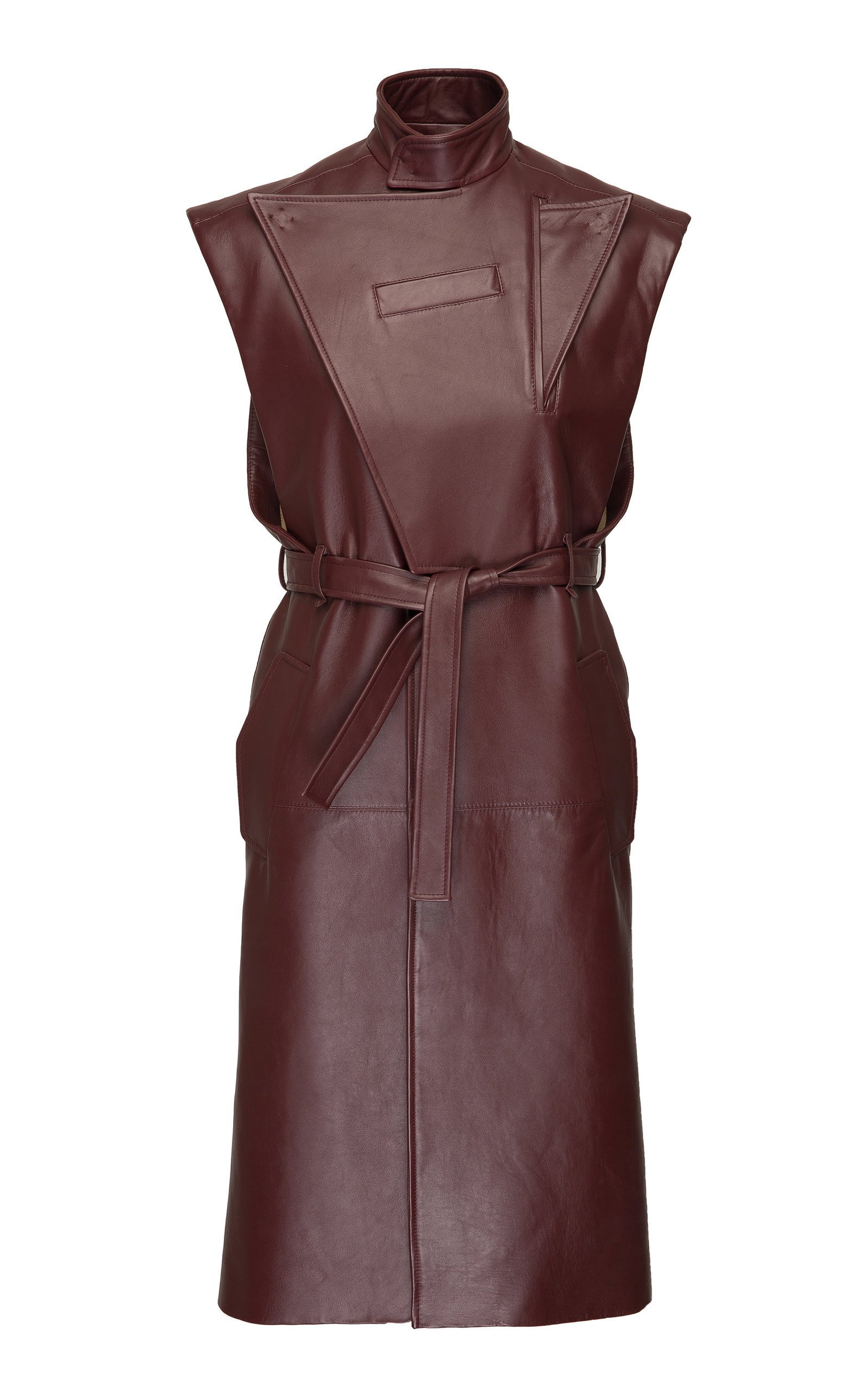SITUATIONIST Sleeveless Leather Coat