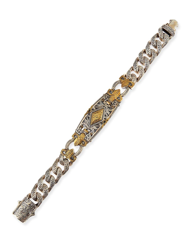 Konstantino Myrmidones Filigree Link ID Bracelet