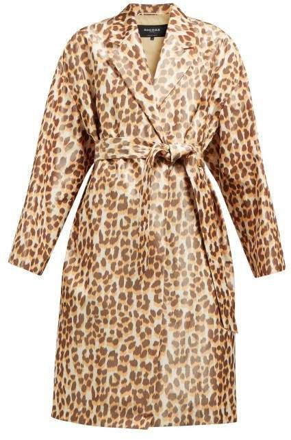 Okawa Leopard Print Taffeta Coat - Womens - Leopard