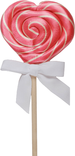 heart lollipop