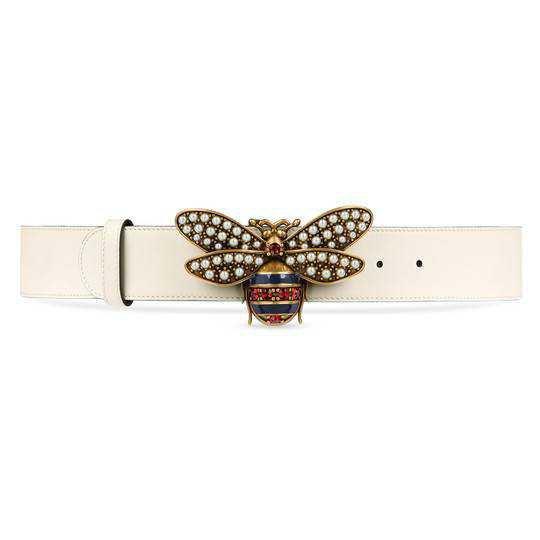 Queen Margaret leather belt - Gucci Women's Belts 4996370GUDT9075