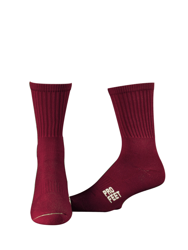 Pro Feet 385 Colored Crew Socks --Maroon – HIT A Double