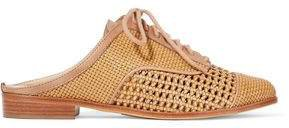 Dracena Woven Leather Slippers