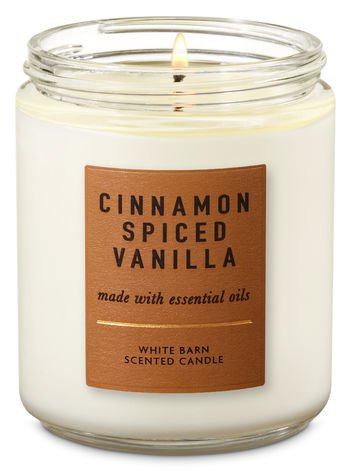 Cinnamon Spiced Vanilla Single Wick Candle | Bath & Body Works