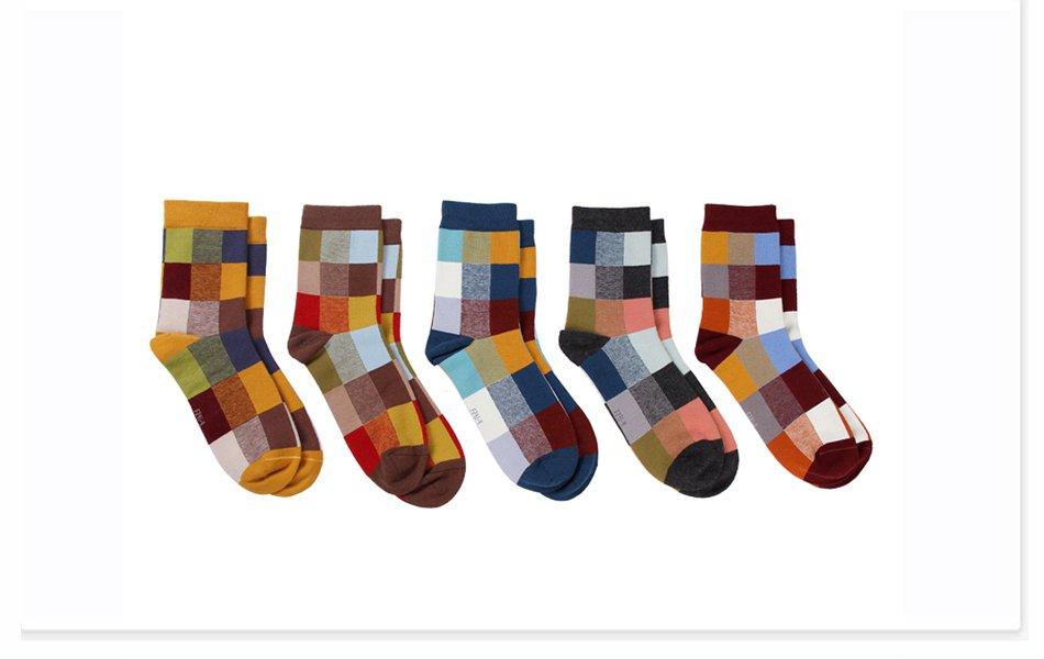 HAIYYYK 5 Pairs Combed Cotton Men's Socks Compression Colorful Square – Rockin Docks Deluxephotos