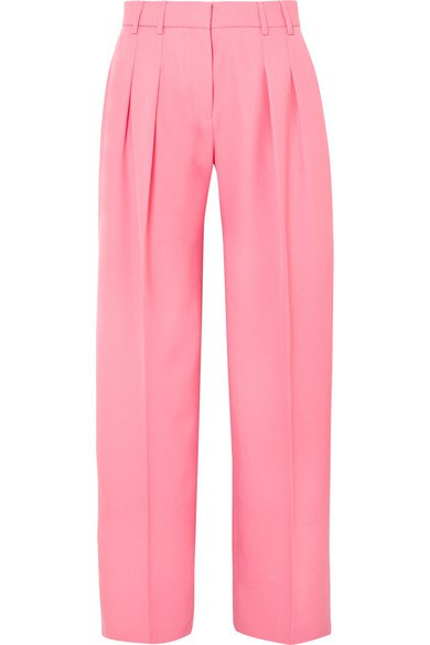 Victoria, Victoria Beckham | Pleated wool-twill wide-leg pants | NET-A-PORTER.COM