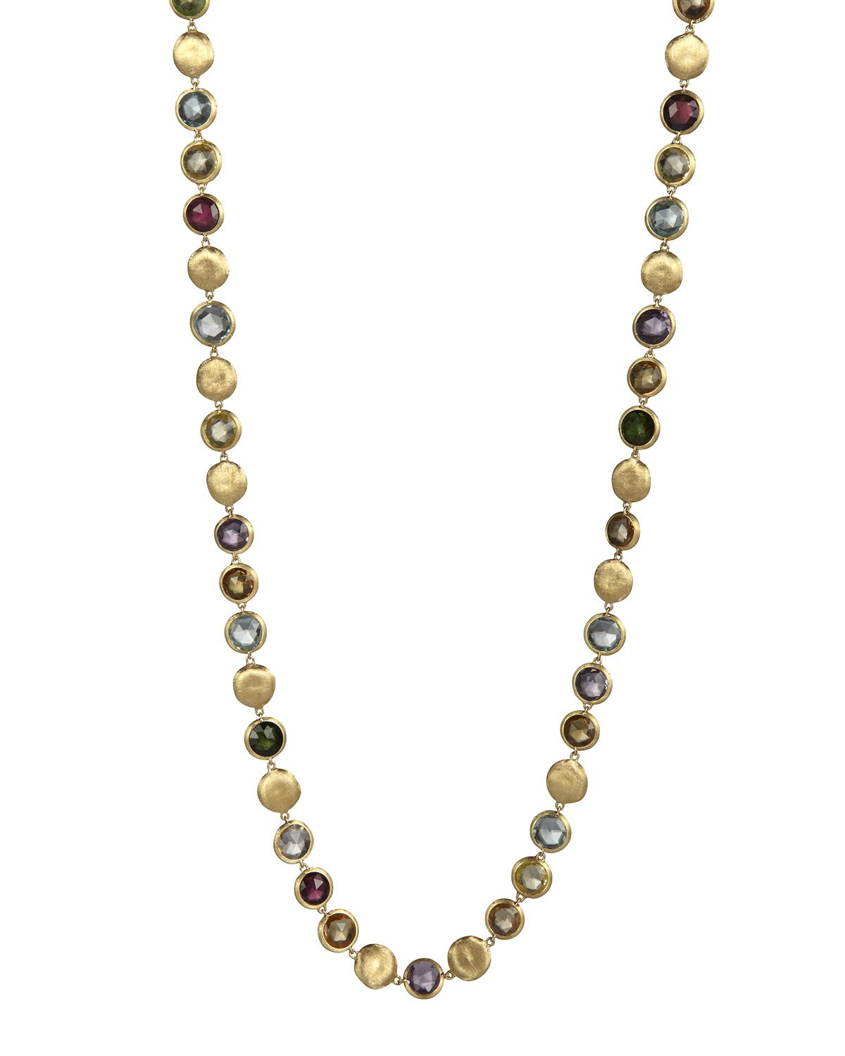 """Marco Bicego 30"""" Jaipur Mixed-Stone Link Necklace"""