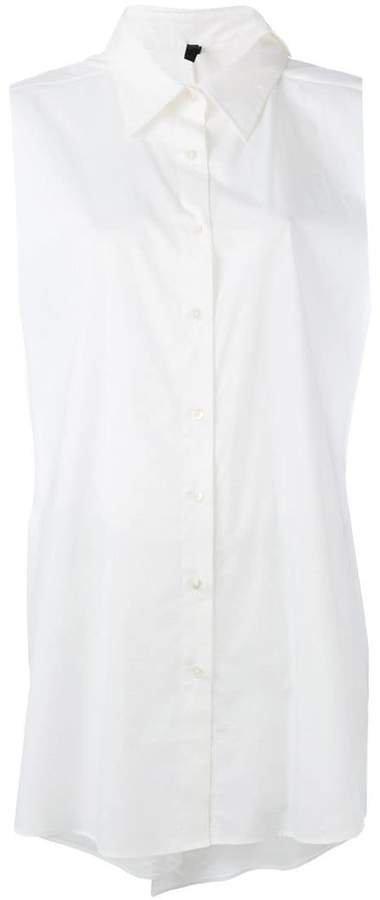 Unravel Project sleeveless boyfriend shirt