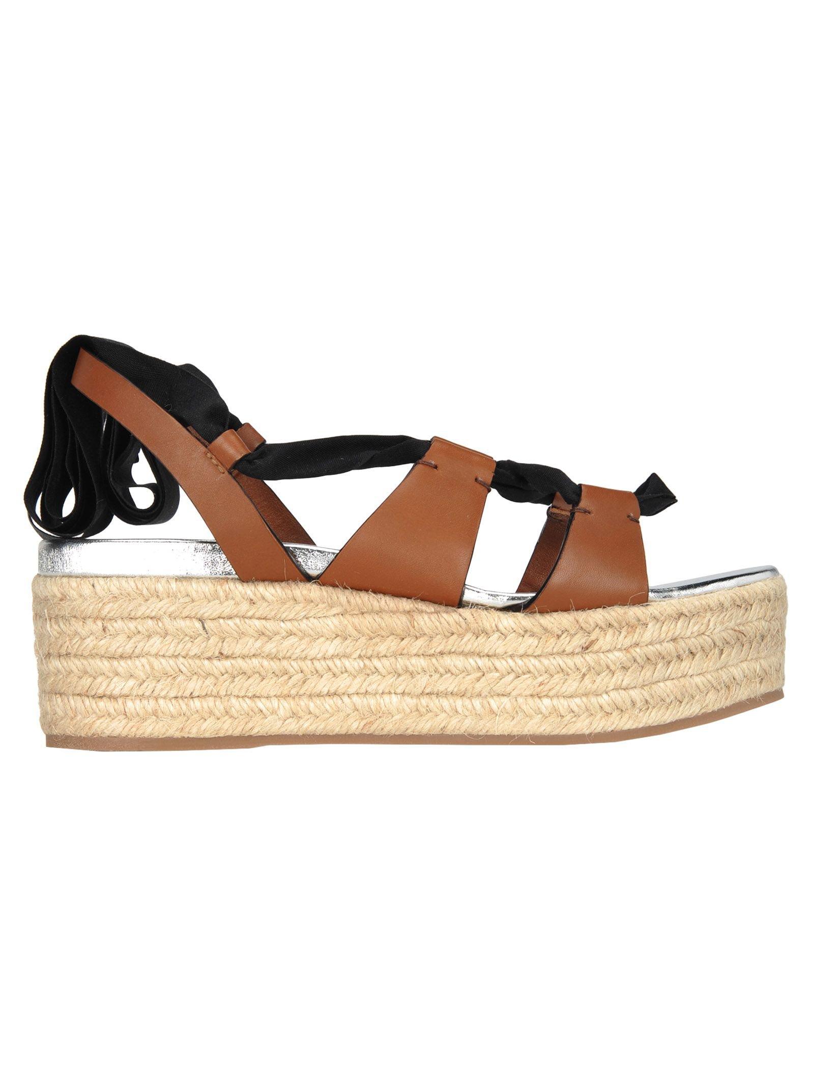Miu Miu Miu Miu Platform Ribbon Sandals