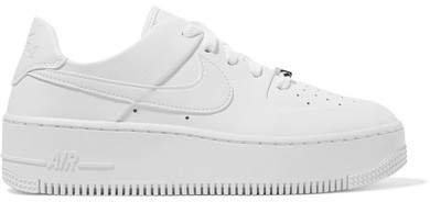 Air Force 1 Sage Textured-leather Sneakers - White