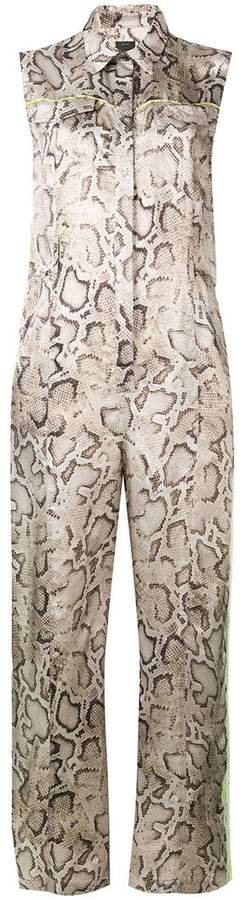 snakeskin print jumpsuit
