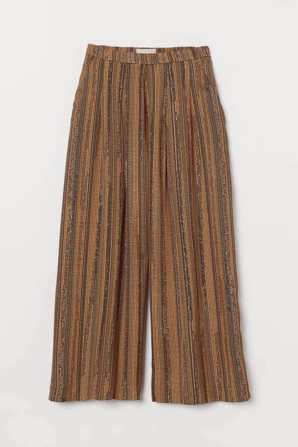 Wide-leg Pants - Orange