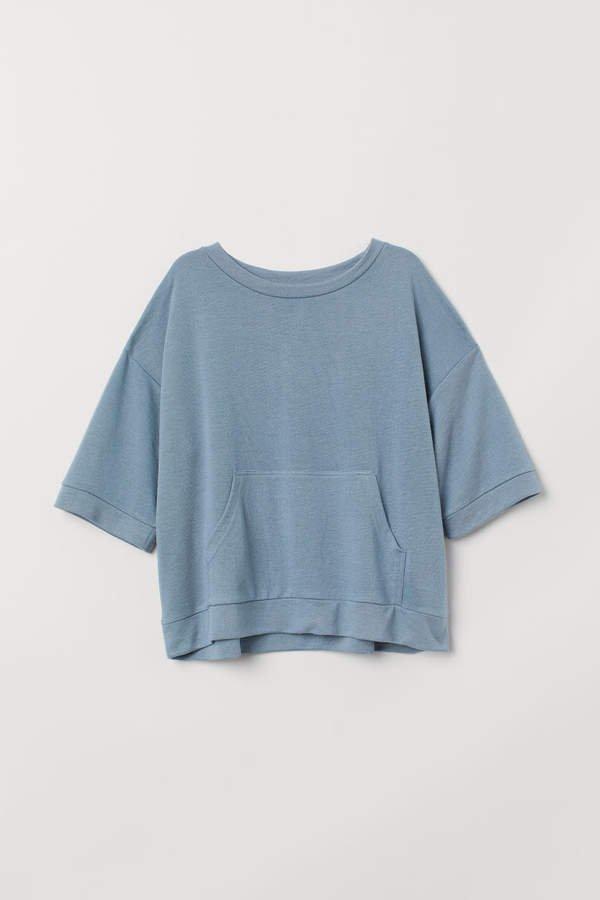 Short-sleeved Sweatshirt - Turquoise