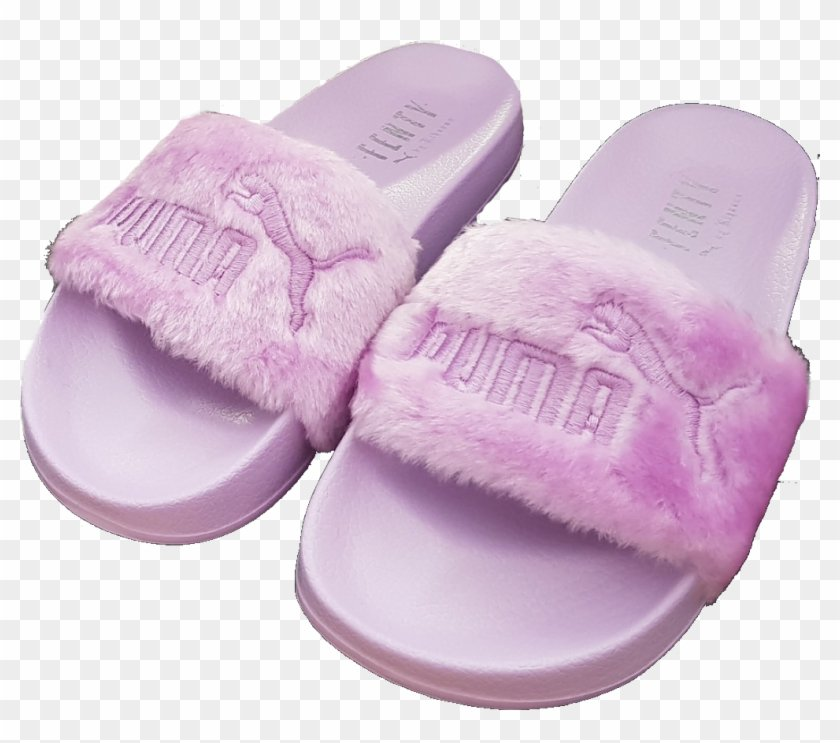 #png #slides #puma #pink #fluffy #cute #moodboard #moodboards - Slipper, Transparent Png - 1024x900(#2086011) - PngFind