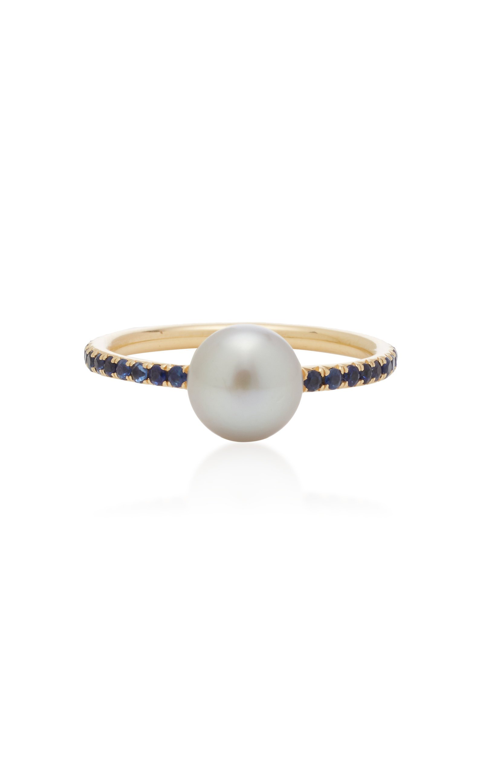 RENNA Pearls And Pebbles Sapphire Ring