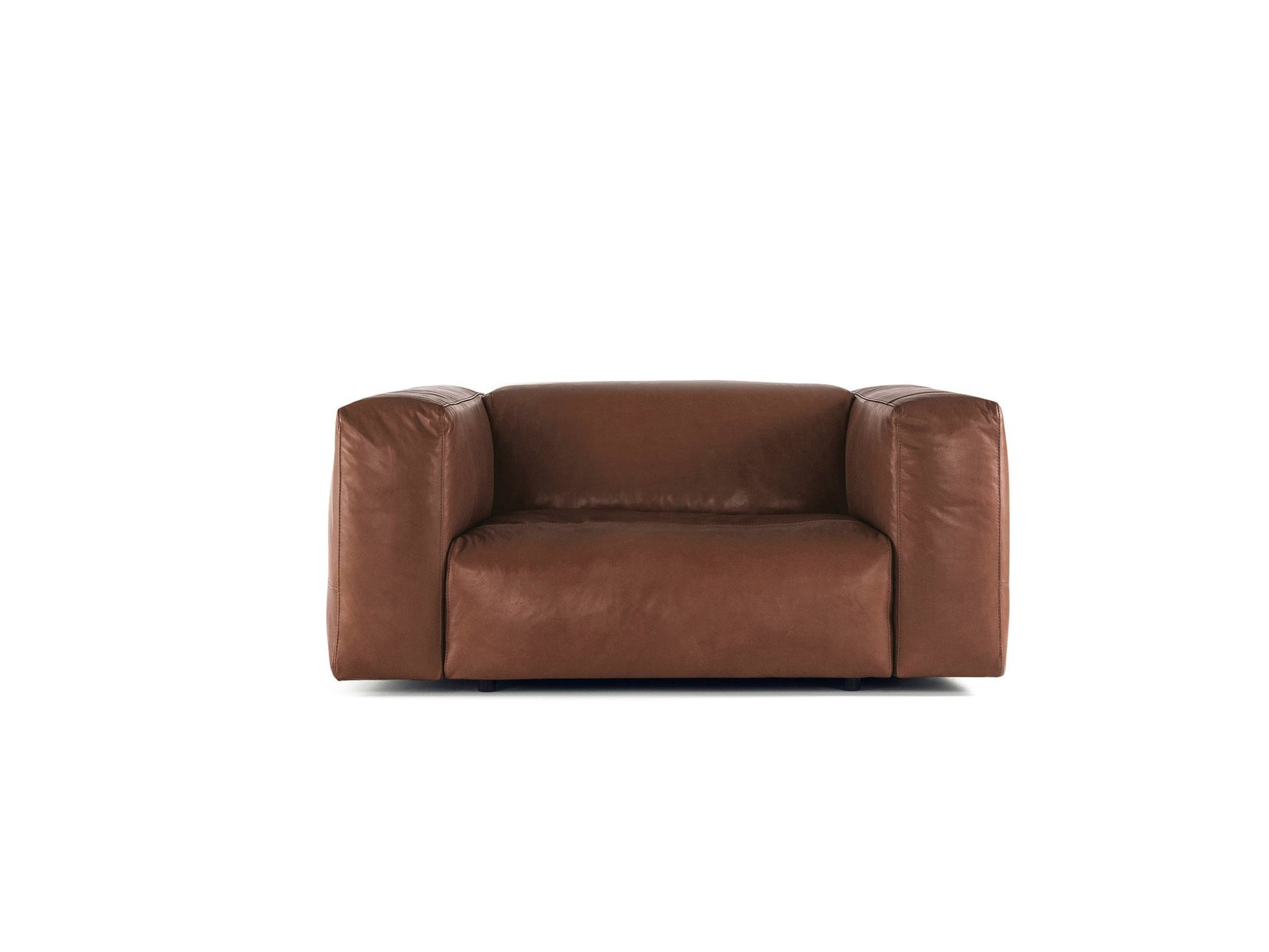 Cloud Armchair Brown Leather