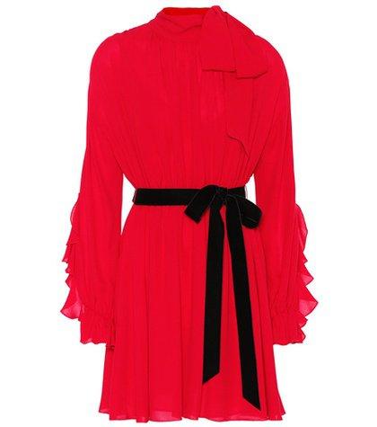 Silk minidress