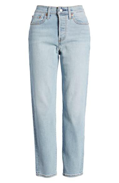Levi's® Wedgie Icon Fit High Waist Crop Jeans (Bauhaus Blues)   Nordstrom