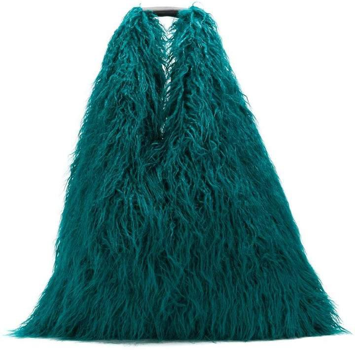 faux-fur shoulder bag