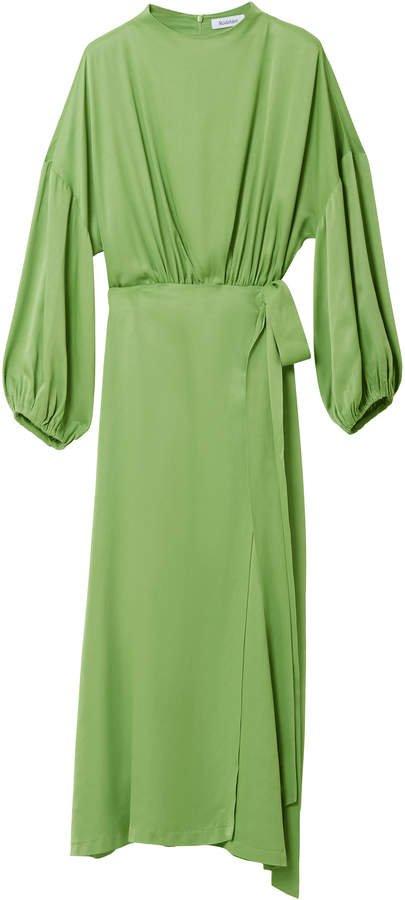 Rodebjer Indio Satin-Jersey Wrap-Effect Dress