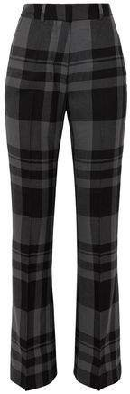 Kennedy Checked Wool Bootcut Pants
