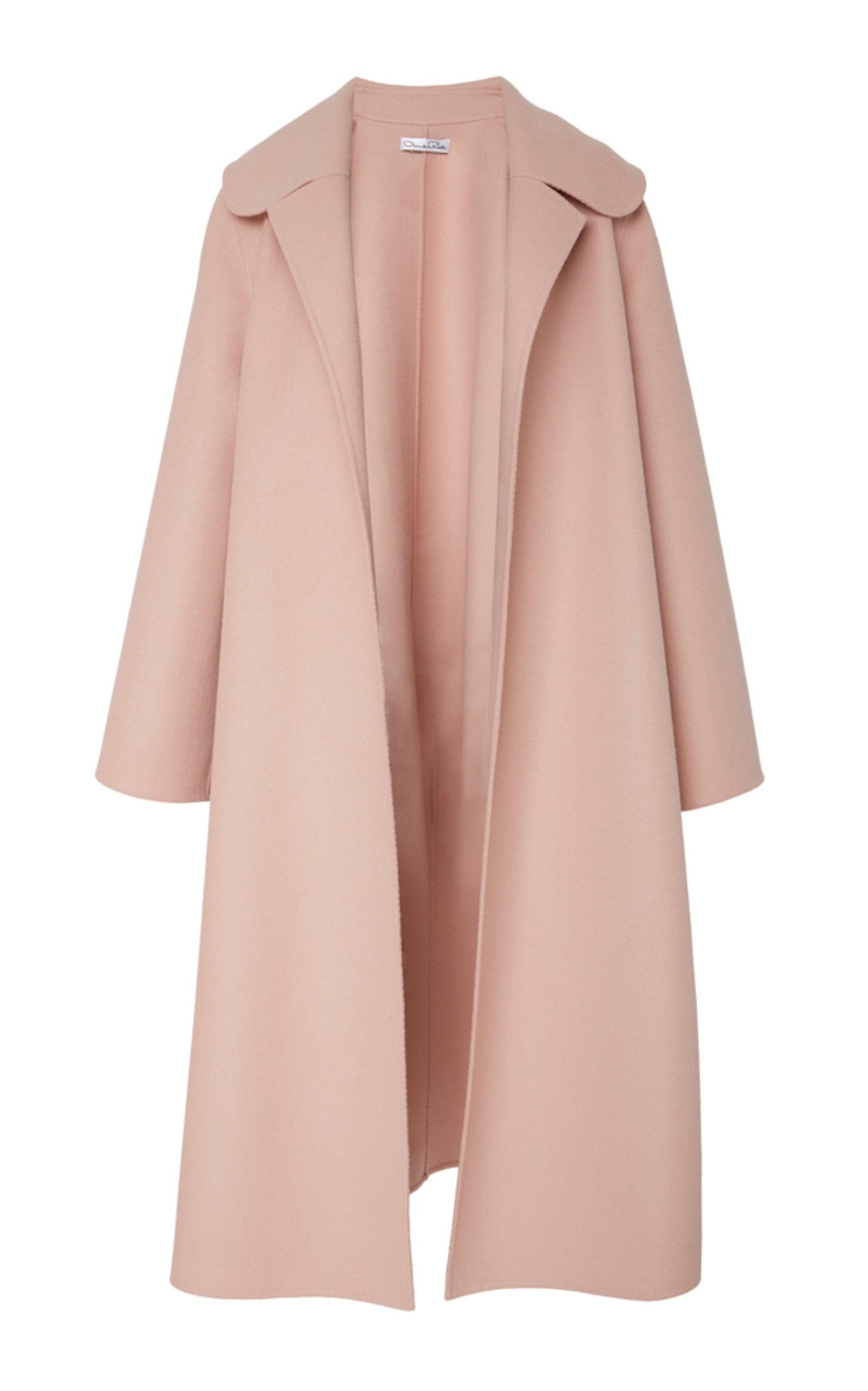 Draped Coat by Oscar de la Renta   Moda Operandi