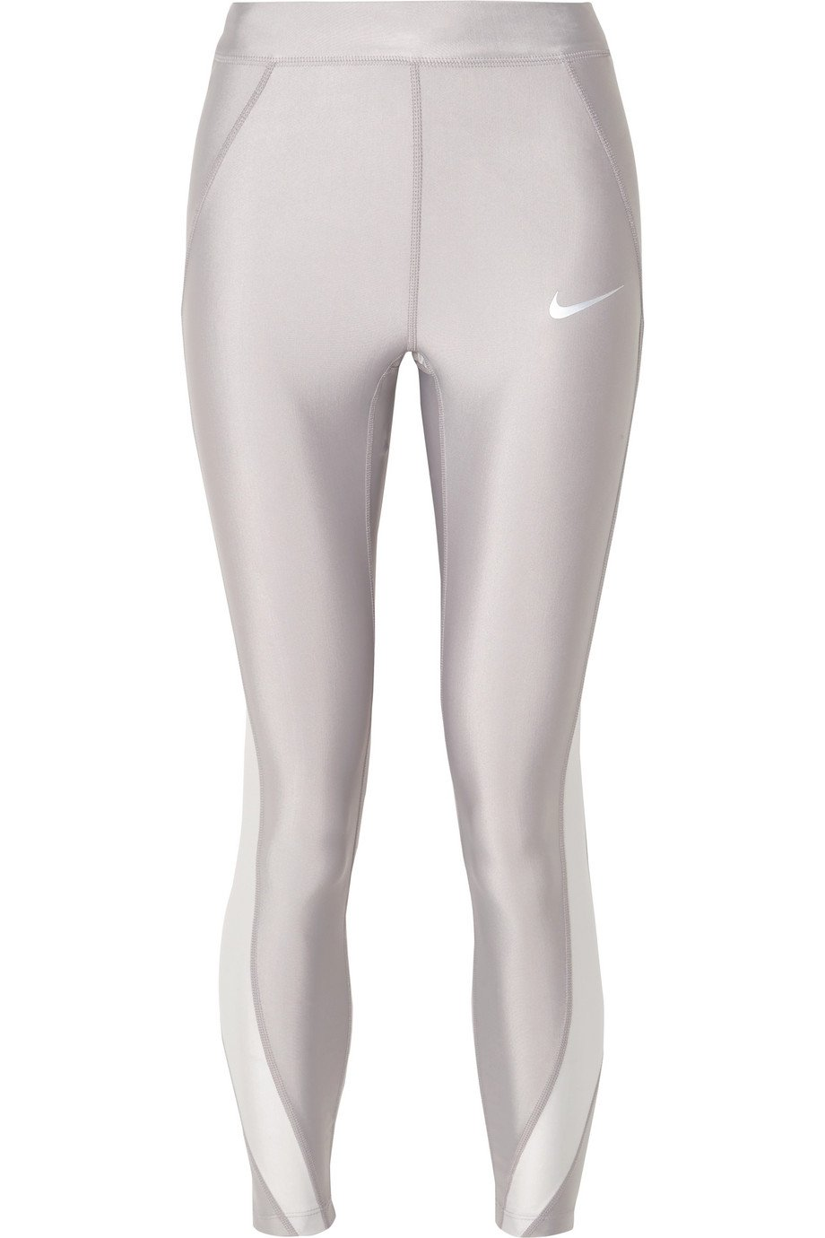 Nike | Speed cropped paneled metallic Dri-FIT stretch leggings | NET-A-PORTER.COM