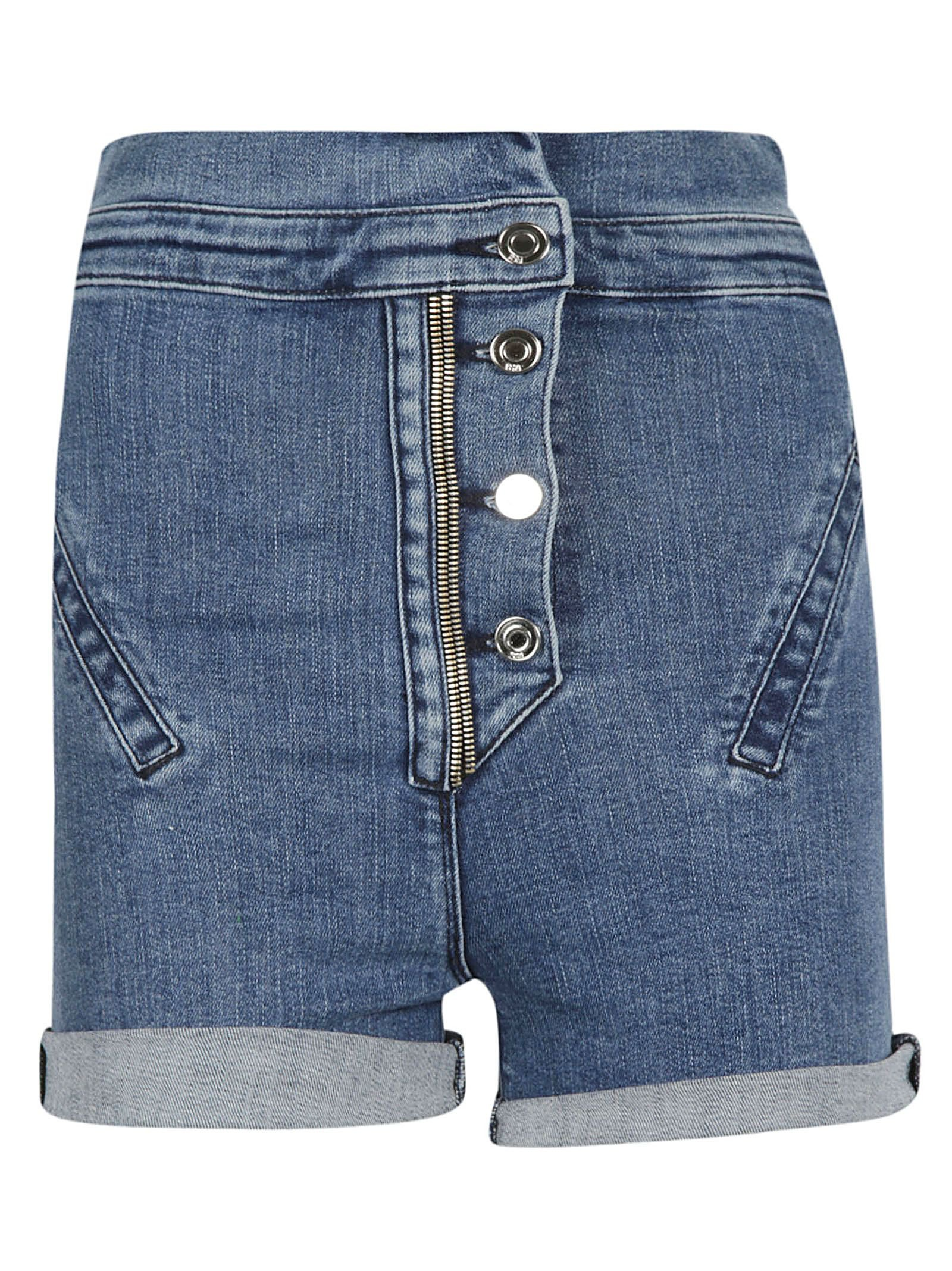 RTA High Waist Denim Shorts