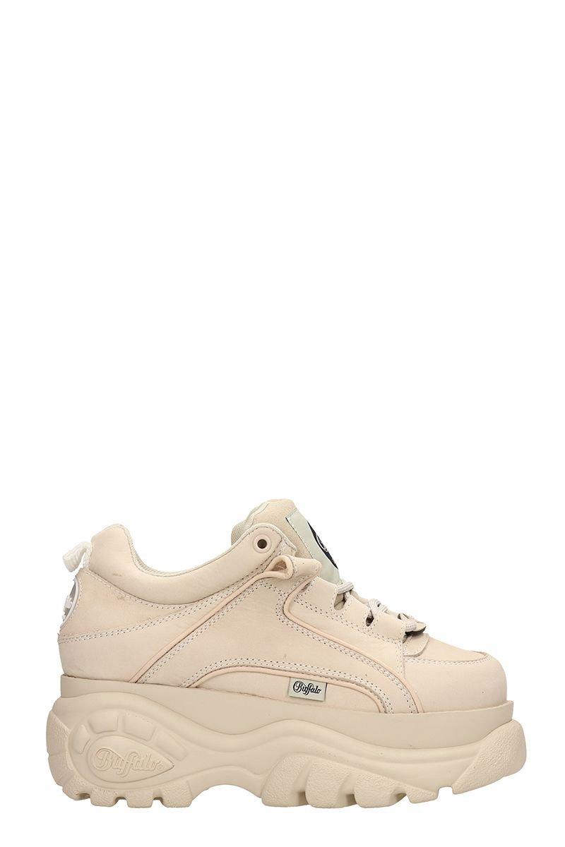 Buffalo Low Beige Classic Platform Sneakers