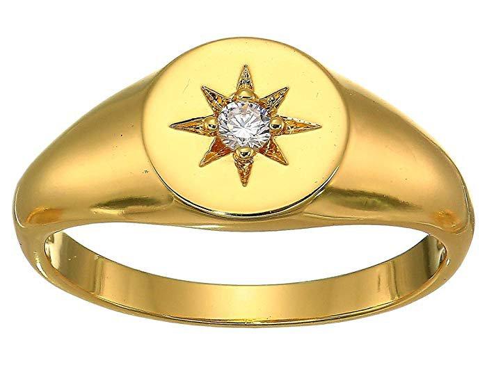 SHASHI Starburst Signet Ring at Zappos.com
