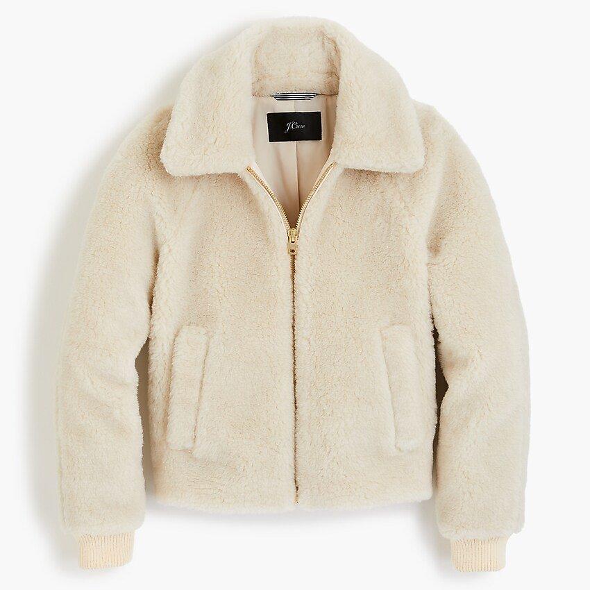 J.Crew: Plush Fleece Bomber Jacket