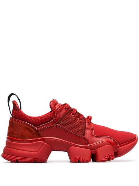 Givenchy red jaw neoprene and leather sneakers