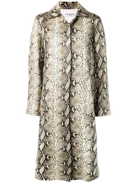 Philosophy Di Lorenzo Serafini Python print trench coat $1,379 - Buy Online SS19 - Quick Shipping, Price