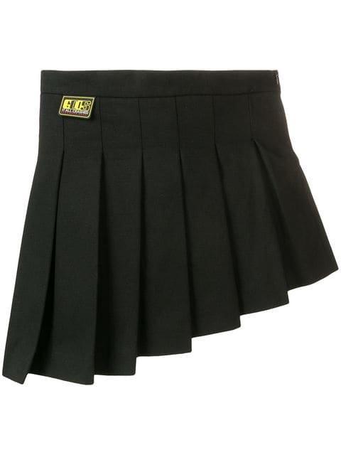 Gcds asymmetric pleated skirt
