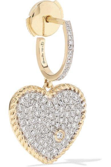 Yvonne Léon | 18-karat gold diamond earring | NET-A-PORTER.COM