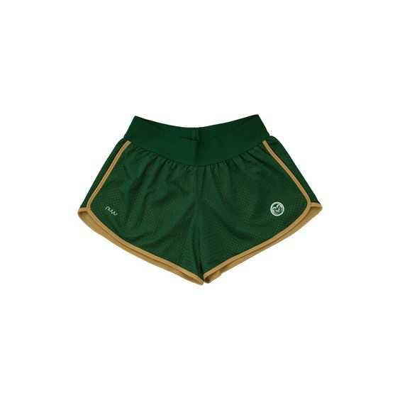 green track shorts
