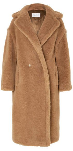 Teddy Icon Camel Hair And Silk-blend Coat - Sand