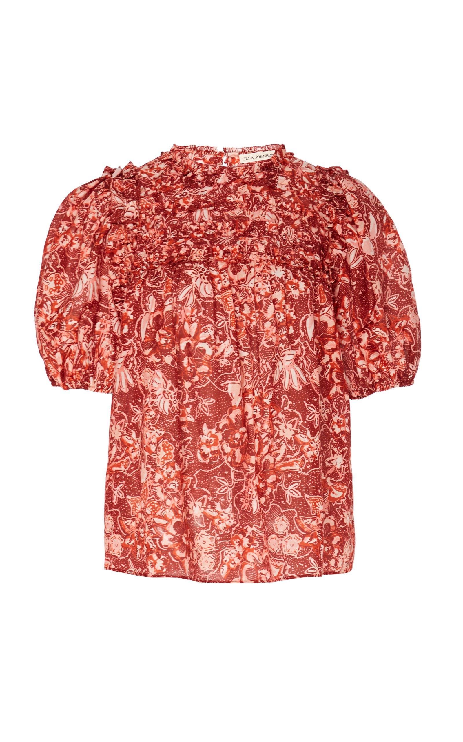 Ulla Johnson Klea Puff Sleeve Floral Top