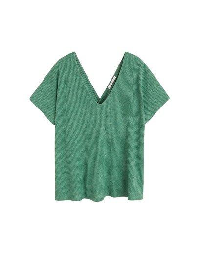 Violeta BY MANGO Ribbed knot t-shirt