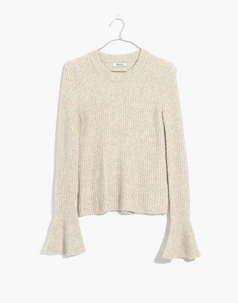 Ruffle-Cuff Pullover Sweater