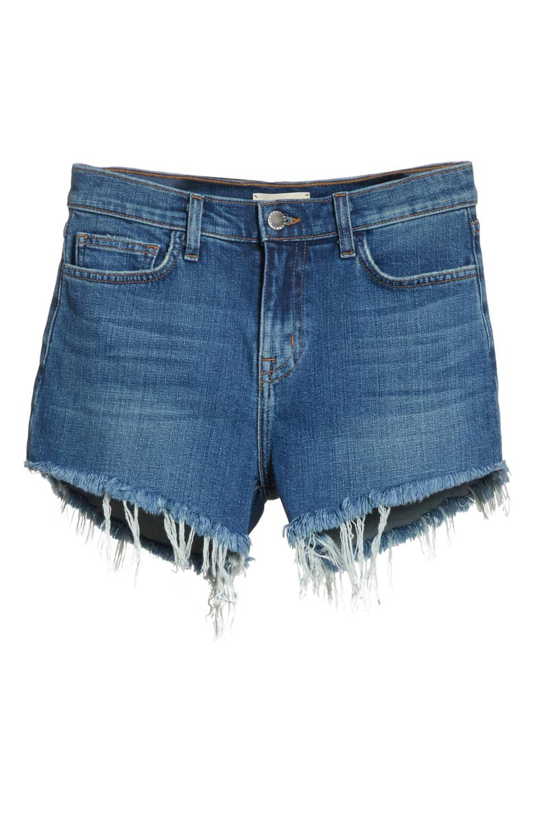 L'AGENCE Ryland High Waist Denim Shorts (Authentique) | Nordstrom