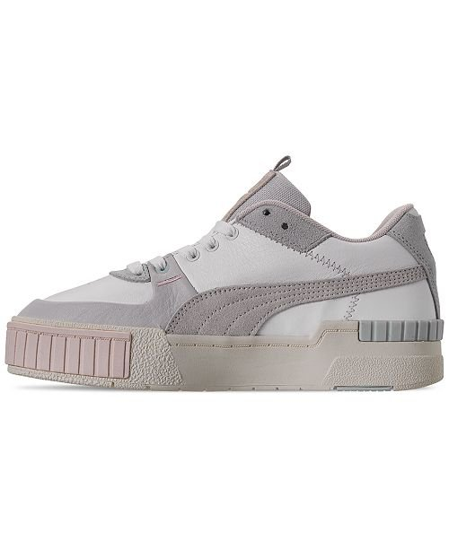 Puma Women's Cali Sport Casual Sneakers from Finish Line & Reviews - Finish Line Athletic Sneakers - Shoes - Macy's white ivory
