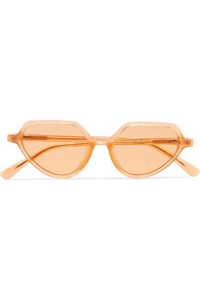 Dries Van Noten | + Linda Farrow cat-eye acetate sunglasses | NET-A-PORTER.COM