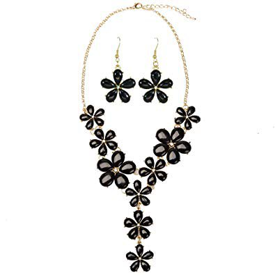 black jewelry flower sets - Google Search