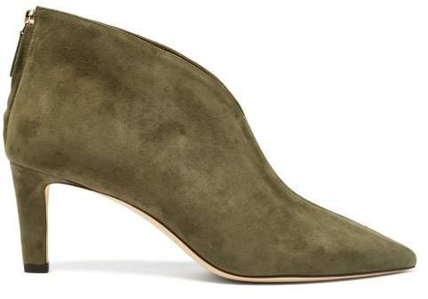 Bowie 65 Mm Ankle Boot - Womens - Khaki
