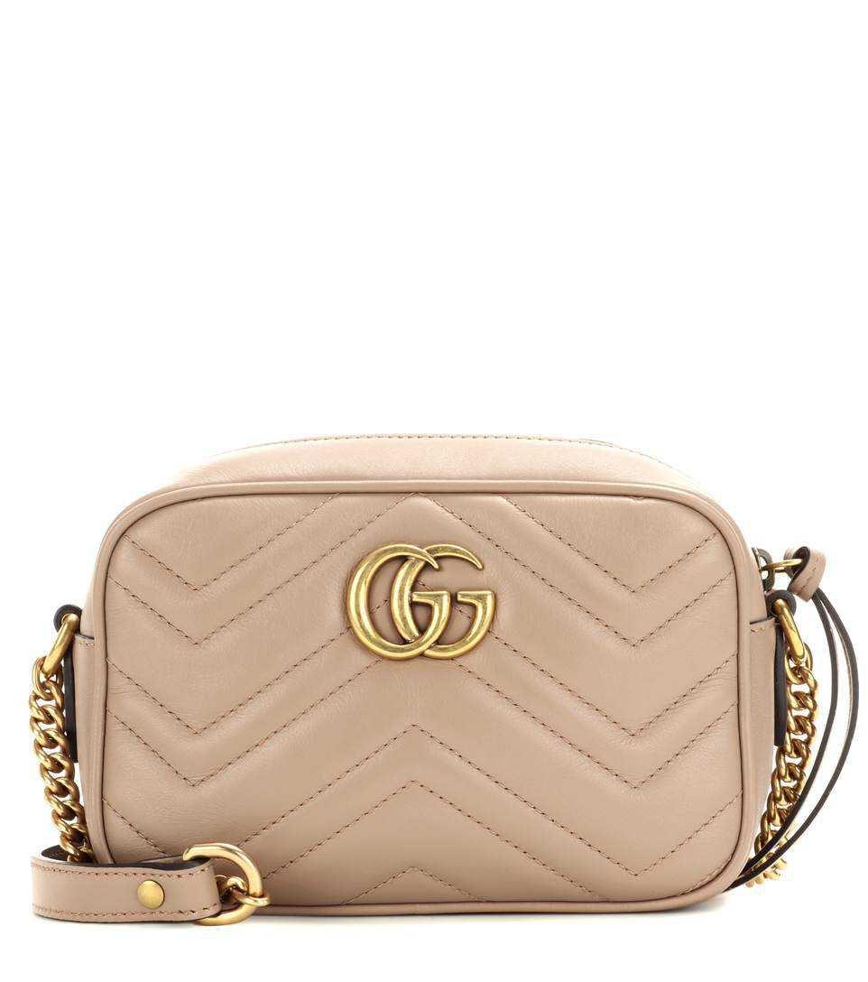 Gucci - GG Marmont Mini matelassé leather crossbody bag   mytheresa.com