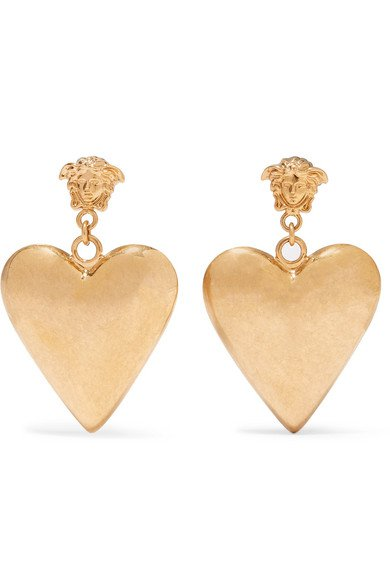 Versace | Gold-tone earrings | NET-A-PORTER.COM