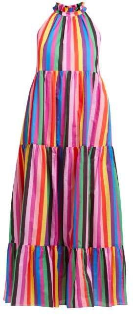 Borgo De Nor Rainbow Print Cotton Maxi Dress - Womens - Multi