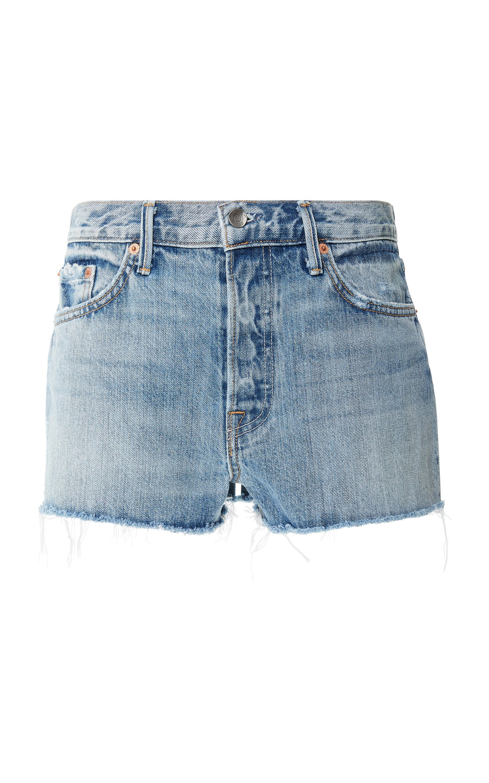 GRLFRND Denim Kaia Frayed Denim Shorts